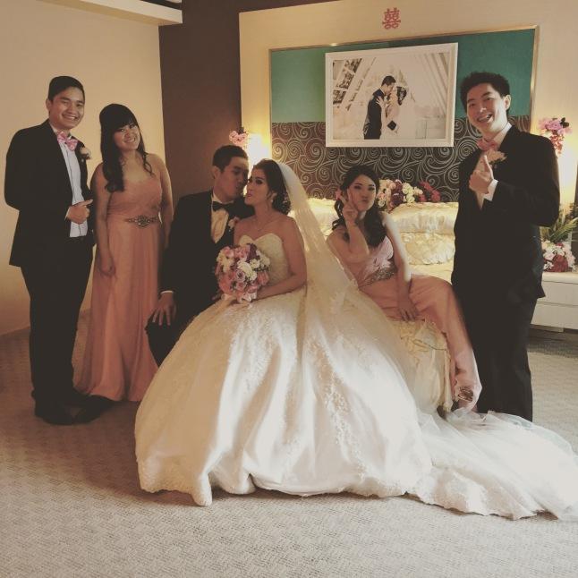 Groom, Bride, Bestmen, & Bridesmaids