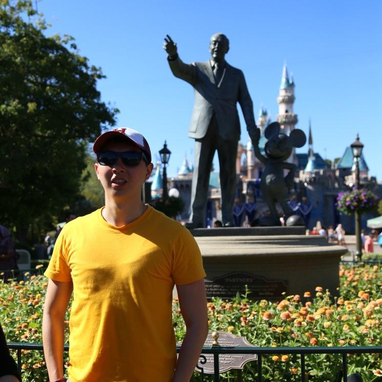 Walt & Mickey Behind Me