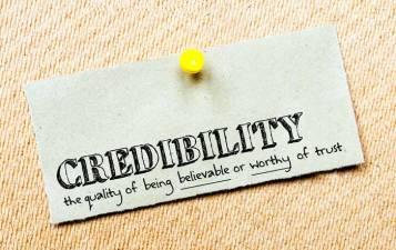 credibility.