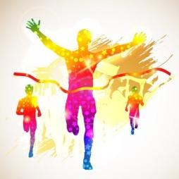 16003500-silhouette-winner-man-and-fans-on-grunge-background-illustration-for-design